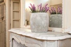Vintage mansion - lavender vase Stock Image