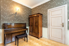 Vintage mansion - music room Stock Photography