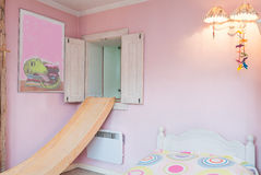 Vintage mansion - pink wall Stock Photo