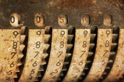Vintage manual adding machine isolated - 500 stock photos