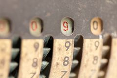 Vintage manual adding machine isolated - 9 royalty free stock photos