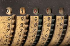 Vintage manual adding machine isolated - 1000 stock photos