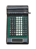 Vintage manual calculator isolated. Royalty Free Stock Photos