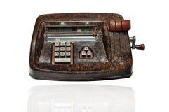 Vintage manual calculator machine Royalty Free Stock Photo