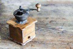 Vintage manual coffee grinder Royalty Free Stock Images