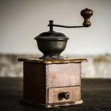 Vintage manual coffee grinder Royalty Free Stock Photo