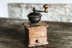 Vintage manual coffee grinder Stock Image