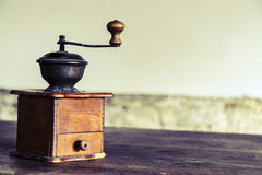 Vintage manual coffee grinder Stock Photo