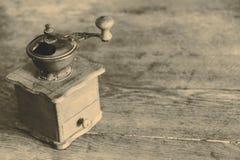 Vintage manual coffee grinder Royalty Free Stock Image