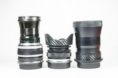 Vintage manual focus lens Stock Image