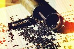 Vintage manual pepper grinder Stock Photos