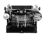 Vintage manual typewriter from the back Royalty Free Stock Images