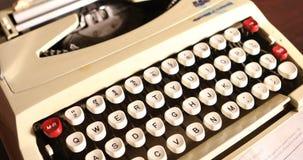Vintage manual typewriter close up.  stock footage
