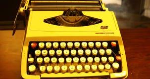 Vintage Manual Typewriter close up stock video footage