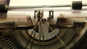 Vintage Manual Typewriter at office stock video