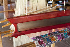 Vintage manual weaving loom Royalty Free Stock Photo