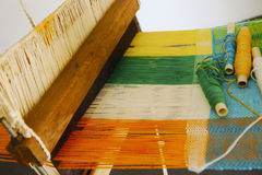 Vintage manual weaving loom royalty free stock photography