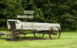 Vintage manure spreader Royalty Free Stock Photo