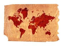 Vintage map. A vintage piece of paper with a map illustration on it royalty free illustration