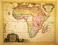 Vintage Map of Africa Stock Photography