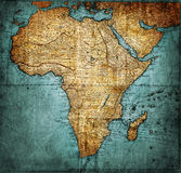 Vintage map Africa Stock Images