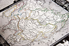 Vintage map of Asia Royalty Free Stock Photos