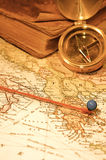 Vintage Map and Chart Stock Photography