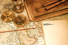 Vintage Map and Chart Stock Image