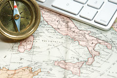 Vintage Map and Chart Royalty Free Stock Photography