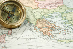 Vintage Map and Chart Stock Photo