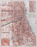 Vintage map of Chicago Stock Photography