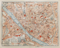 Vintage map of Florence stock photo