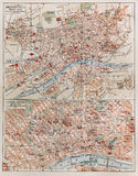 Vintage map of Frankfurt Stock Photos