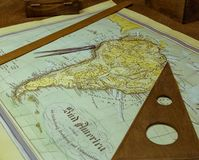 Vintage map of the Latin America Stock Photo