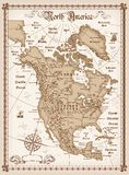 Vintage map of North America. Vector Illustration of Vintage map of North America Royalty Free Stock Photography