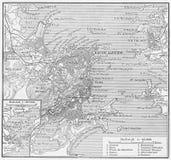 Vintage map of Rio de Janeiro Royalty Free Stock Photos