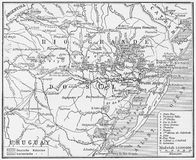 Vintage map of Rio Grande do Sul Stock Photo