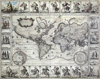 Vintage map of the world Royalty Free Stock Photo