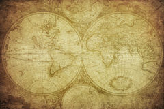 Vintage map of the world. Retro map of the world Stock Photo