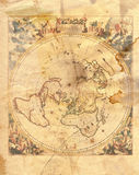 Vintage map of the world. In grunge style Stock Photography