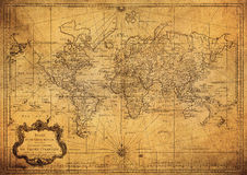 Vintage map of the world 1778 Royalty Free Stock Photos