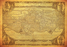 Vintage map of the world 1602. Vintage old map of the world 1602 royalty free stock photo