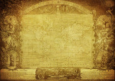 Vintage map of the world published in 1847 Stock Photography