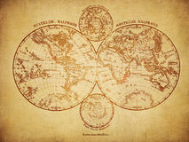Vintage map of the world 1860 Stock Photos