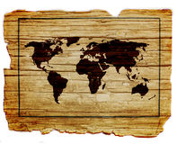 Vintage map of the world Royalty Free Stock Image
