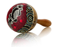Vintage maraca isolated on the white background Royalty Free Stock Images
