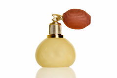 Vintage marble perfume atomizer bottle Royalty Free Stock Photography