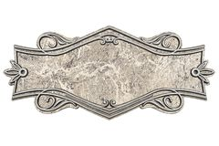 Vintage marble plaque isolated on white background royalty free illustration