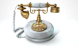 Vintage Marble Telephone Royalty Free Stock Images