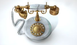 Vintage Marble Telephone Stock Image